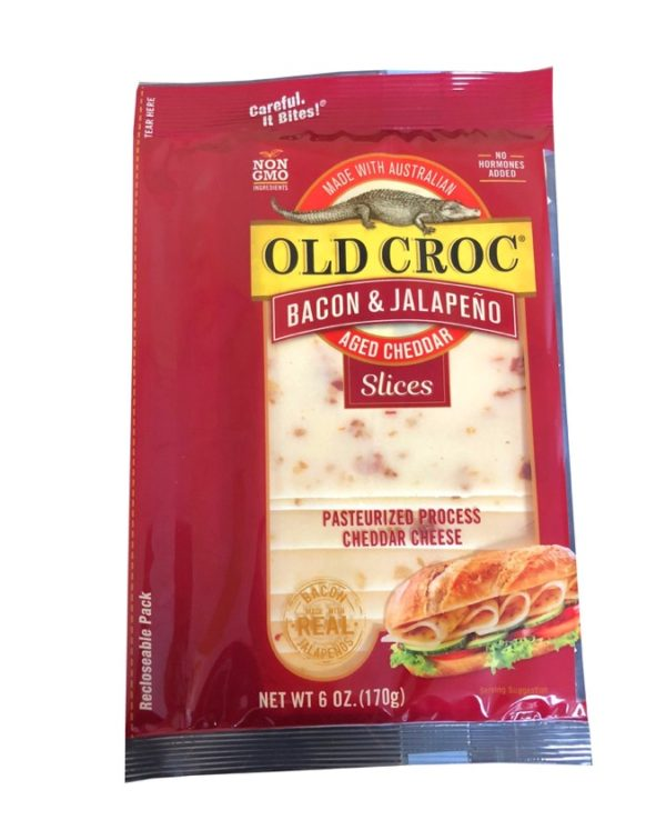bacon jalapeño cheddar cheese slices