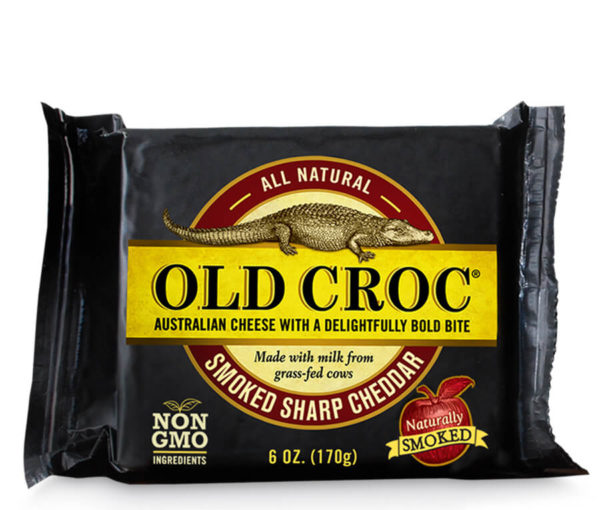 smoked sharp cheddar cheese - Old Croc Cheese