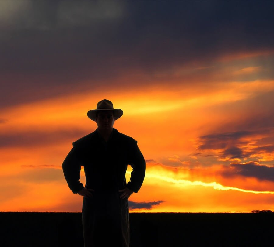 Australian Outback Silhouette