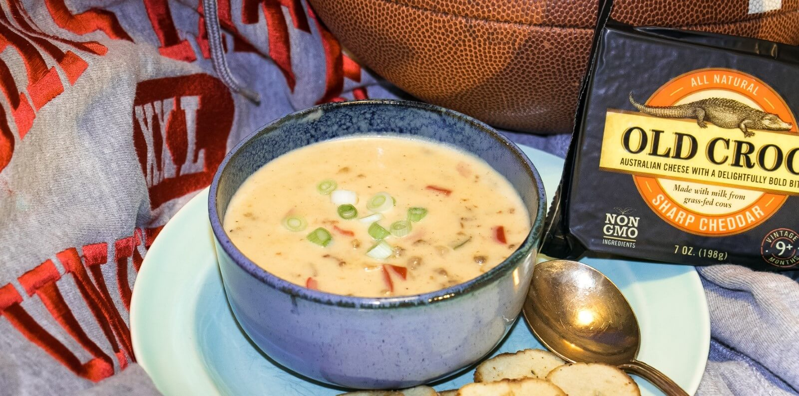 Cheddar Cheese and Sausage Soup