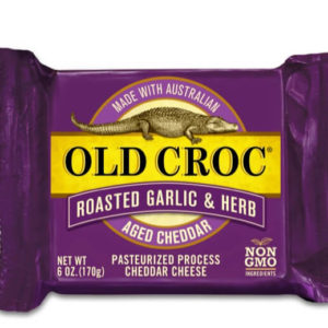 Old Croc Garlic and Herb Aged Cheddar Cheese